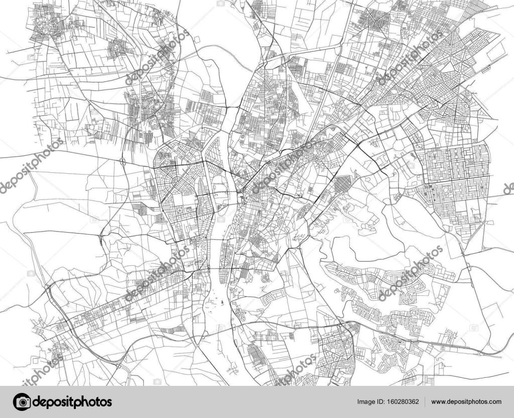 Cairo map, satellite view, city, Egypt — Stock Vector © vampy1 ...