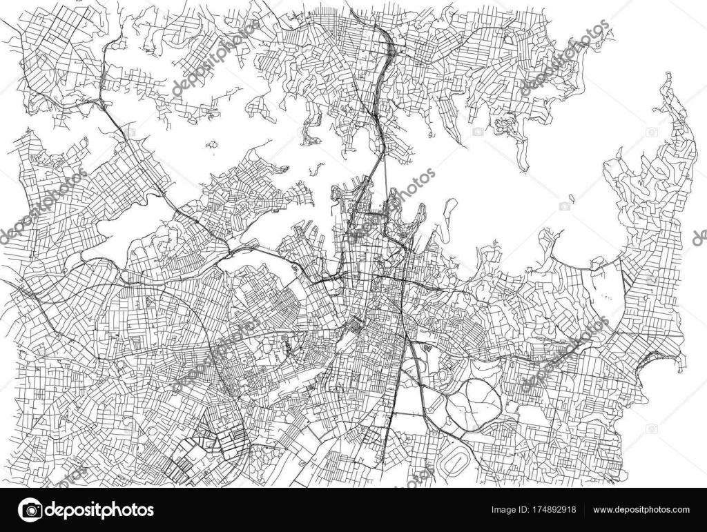 Street Map Australia.Streets Sydney City Map Australia Street Map Stock Vector C Vampy1