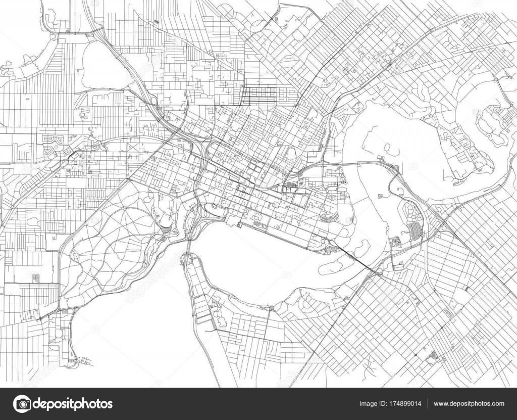 streets perth city map australia street map stock vector
