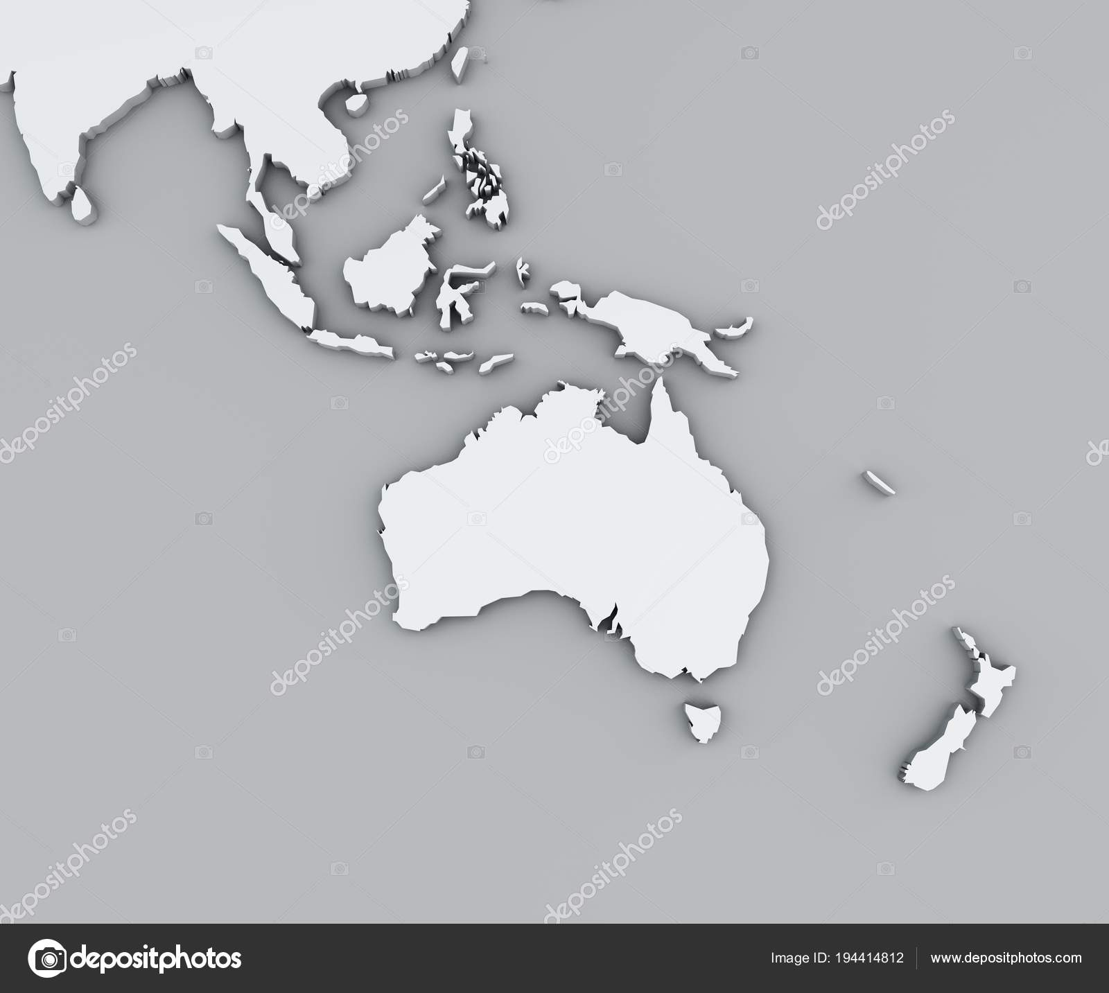 Map Oceania White Geographic Map Cartography Geographical Atlas