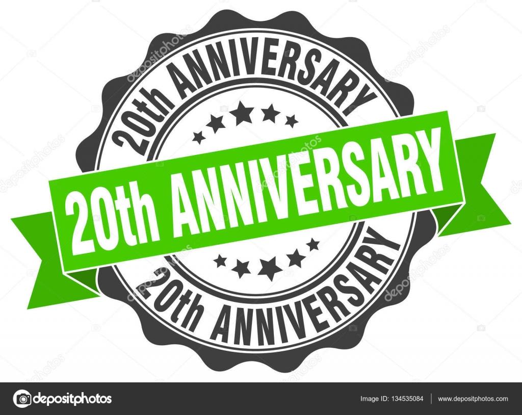 20ste Verjaardag Stempel Teken Seal Stockvector C Aquir014b