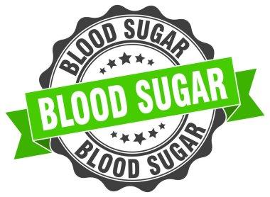 blood sugar stamp. sign. seal