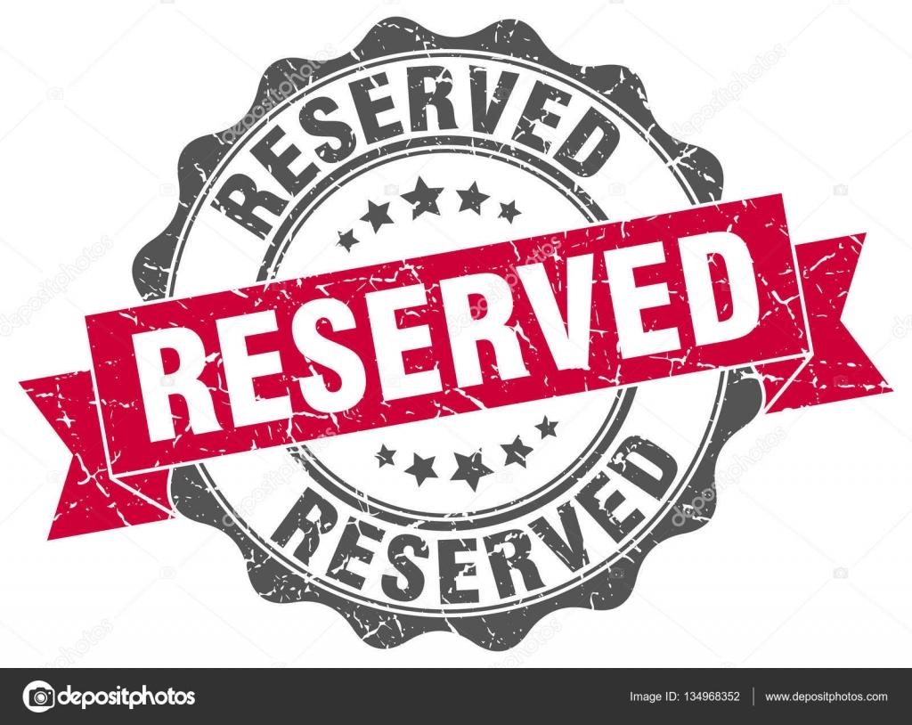 sello de reservado. signo. sello — Vector de stock © Aquir014b ...