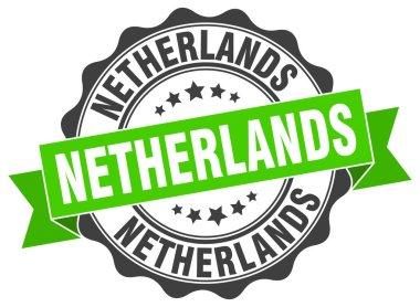 Netherlands round ribbon seal