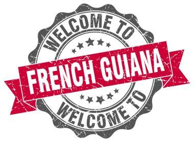 French Guiana round ribbon seal