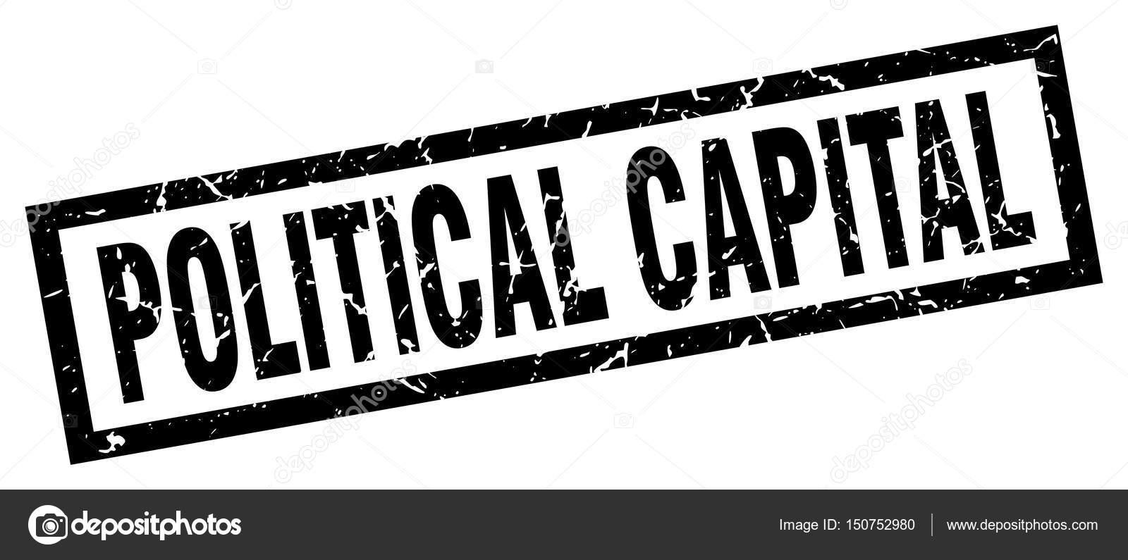 Square Grunge Black Political Capital Stamp Stock Vector