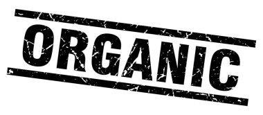 square grunge black organic stamp