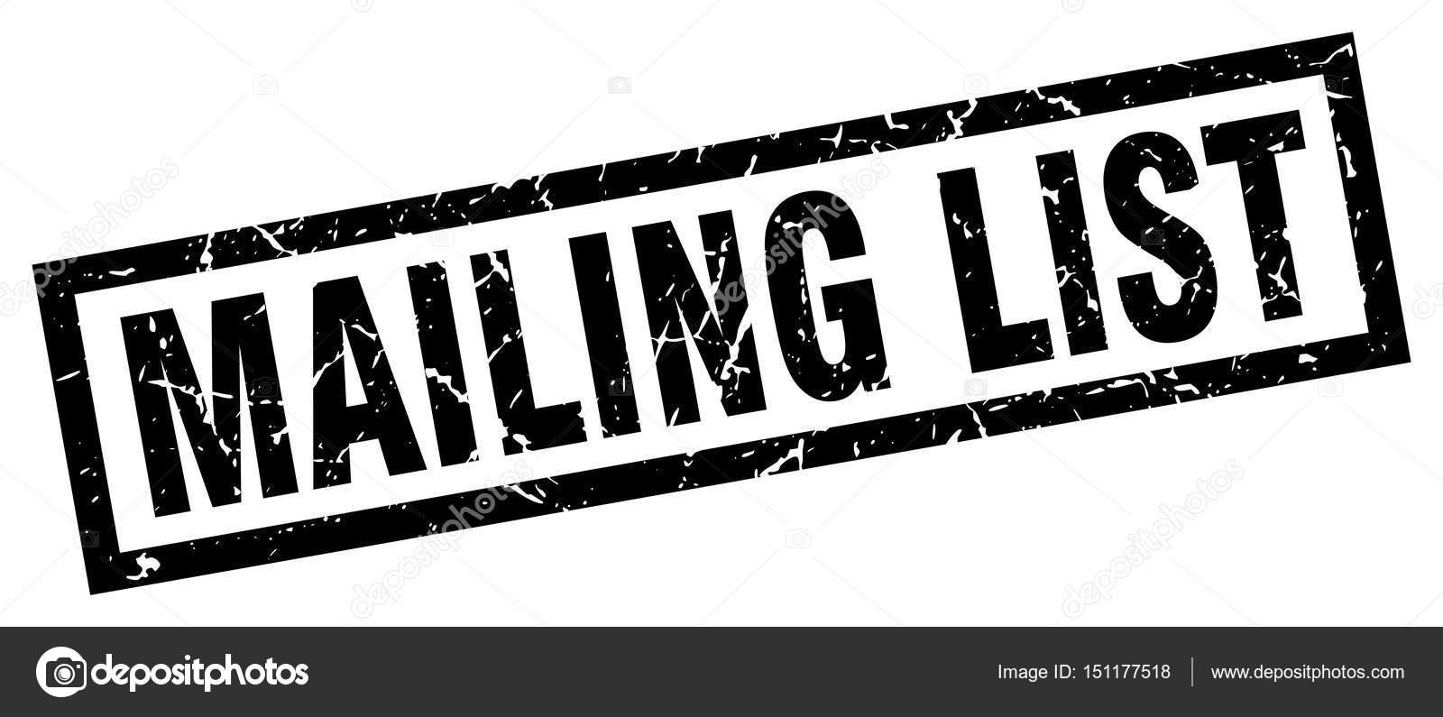 square grunge black mailing list stamp stock vector aquir014b