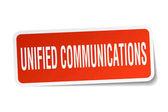 Unified Communications quadratische Aufkleber auf weiß
