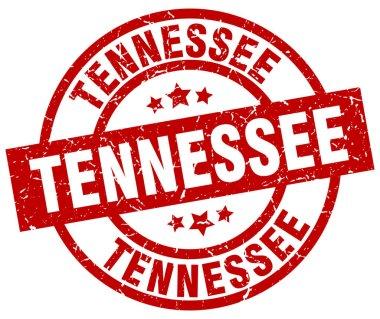 Tennessee red round grunge stamp