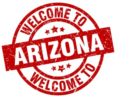welcome to Arizona red stamp