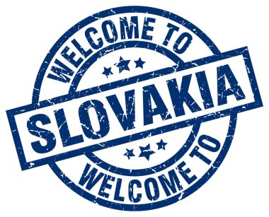 welcome to Slovakia blue stamp