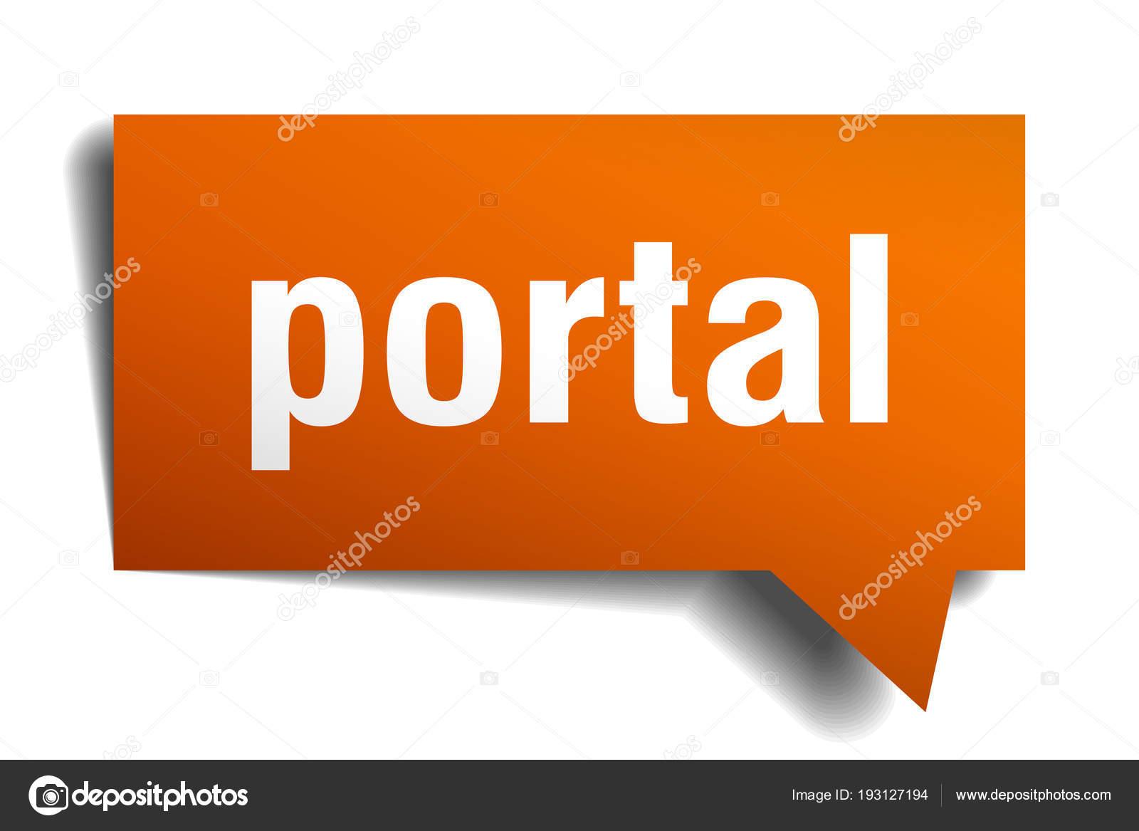 bulle de dialogue 3d portail orange illustration de stock