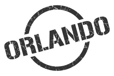 Orlando stamp. Orlando grunge round isolated sign