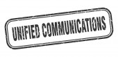 Unified Communications Stempel. Unified Communications Square Grunge schwarzes Schild