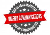 vereinheitlichte Kommunikationszeichen. Unified Communications Circular Band Etikett. runde einheitliche Kommunikations-Vignette