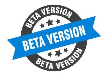 beta version sign. beta version round ribbon sticker. beta version tag