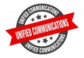 vereinheitlichte Kommunikationszeichen. Unified Communications Rundbandaufkleber. Unified Communications-Tag