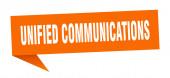 Unified Communications Sprechblase. Unified Communications Ribbon Schild. Banner für einheitliche Kommunikation