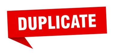duplicate speech bubble. duplicate ribbon sign. duplicate banner