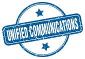 Unified Communications Stempel. vereinheitlichte Kommunikation rund um Vintage Grunge Zeichen. Einheitliche Kommunikation
