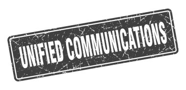 unified communications stamp. unified communications vintage black label. Sign