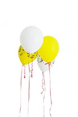 Air balloons on white