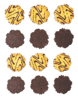 Set of cookies isolated over the white background