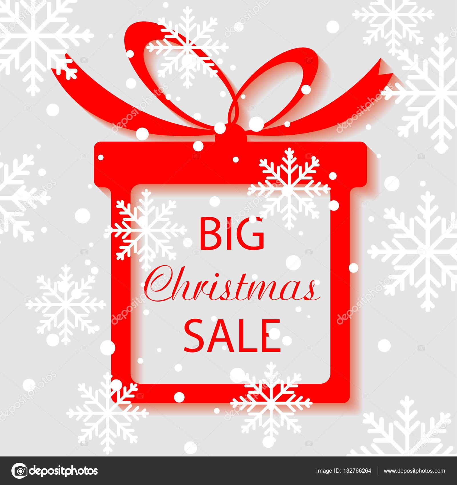 Big Christmas Sale Template Stock Vector C Annakukhmar 132766264