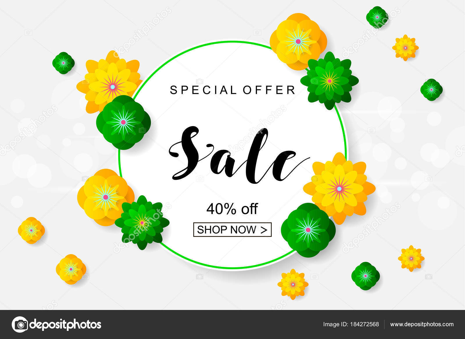 Sale banner with paper flowers for online shopping advertising sale banner with paper flowers for online shopping advertising stock vector mightylinksfo