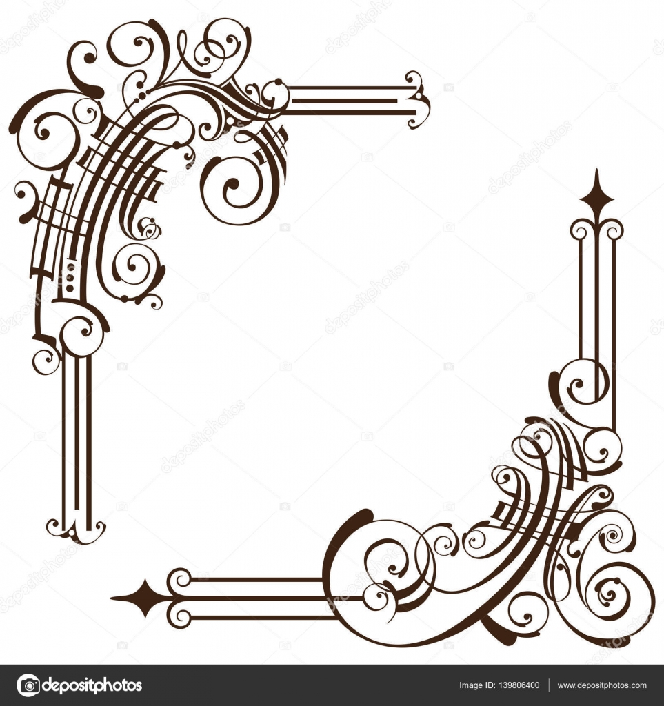 Art Deco Design Elements art deco design elements of vintage ornaments and borders corners