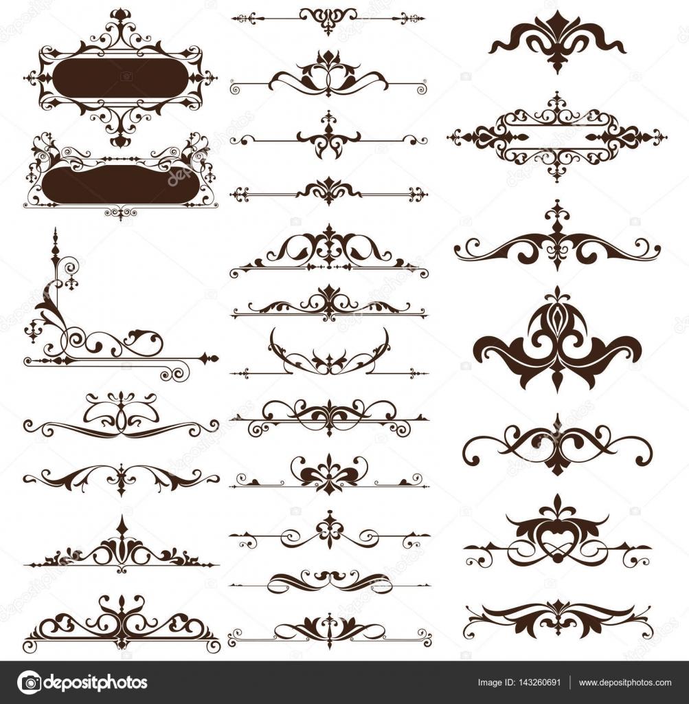Border Calligraphic Calligraphy Classic Corner Decoration Decorative Design