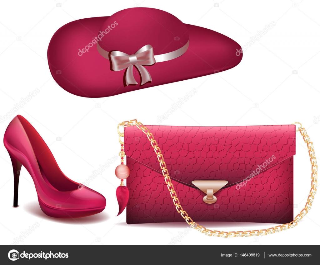 e76a485dd68f Chaussures femmes, chaussures et accessoires de sac à main sac à main  vintage chapeau vectoriel fond blanc brevets mode en cuir chaussures pour  femmes et un ...