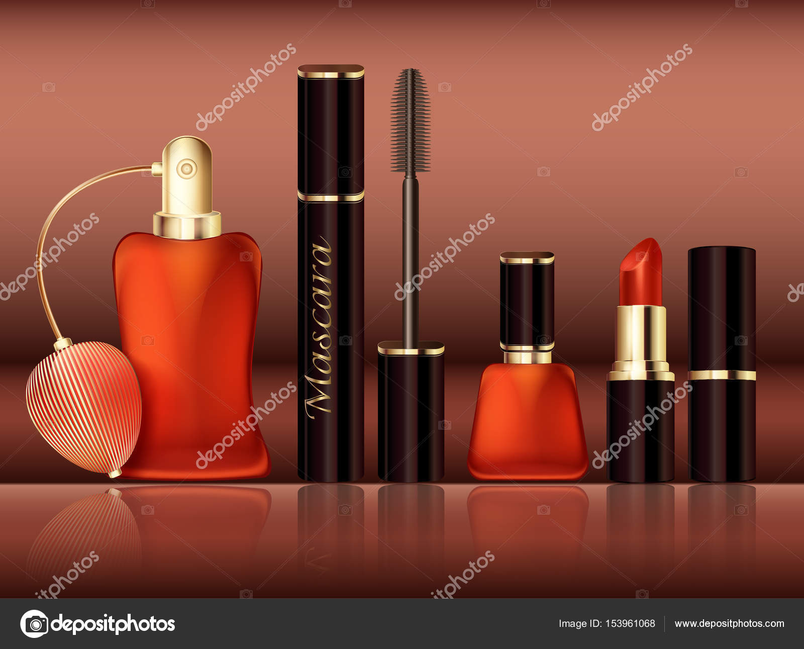 Design set of cosmetic promotional items. Women s Accessories Lipstick 61acf5c6a