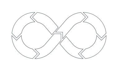 DevOps vector symbol outline
