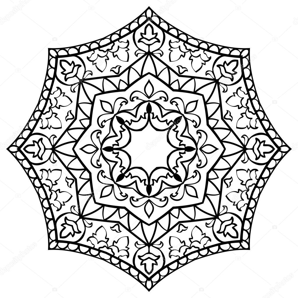Floral simple mandala  — Stock Vector © matorinni #125765014