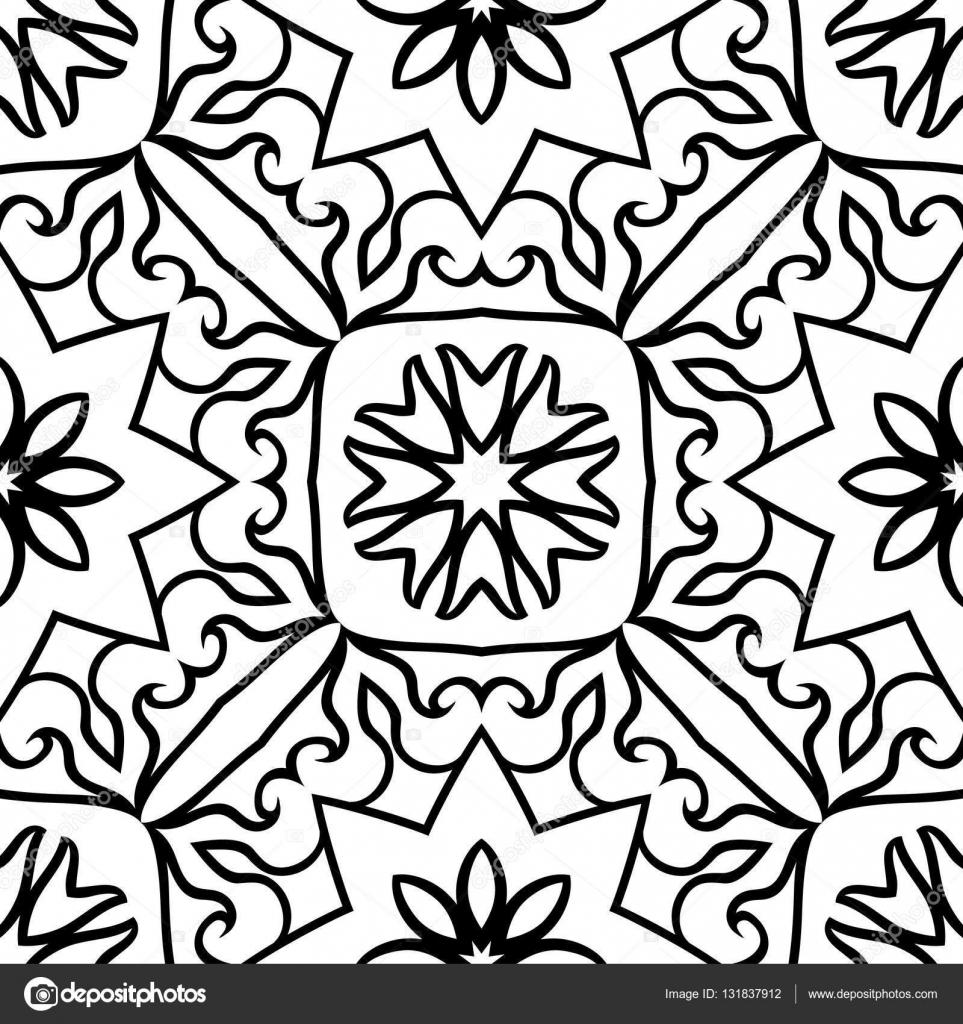 patrones ornamentales sin fisuras — Archivo Imágenes Vectoriales ...