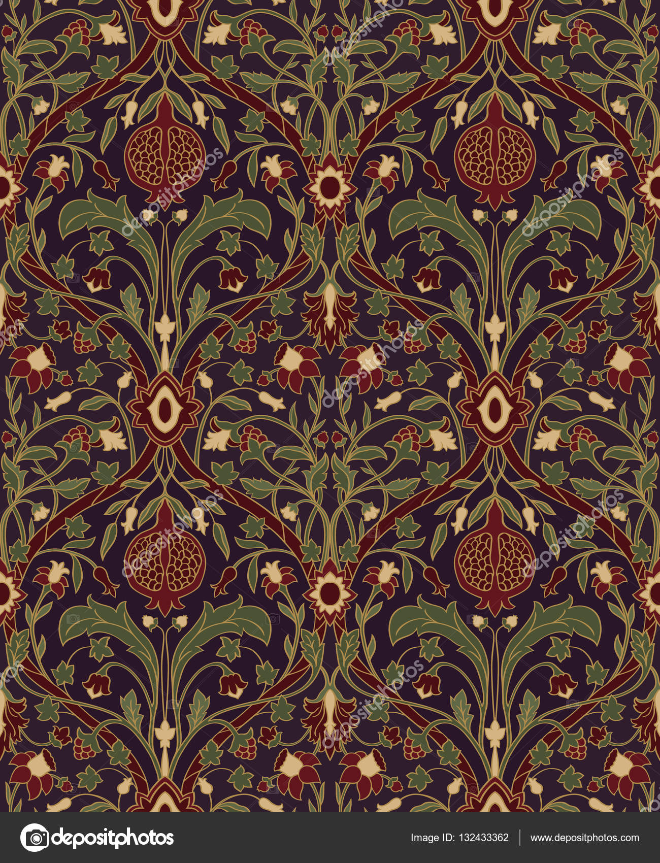Floral Pattern For Wallpaper Stock Vector C Matorinni 132433362