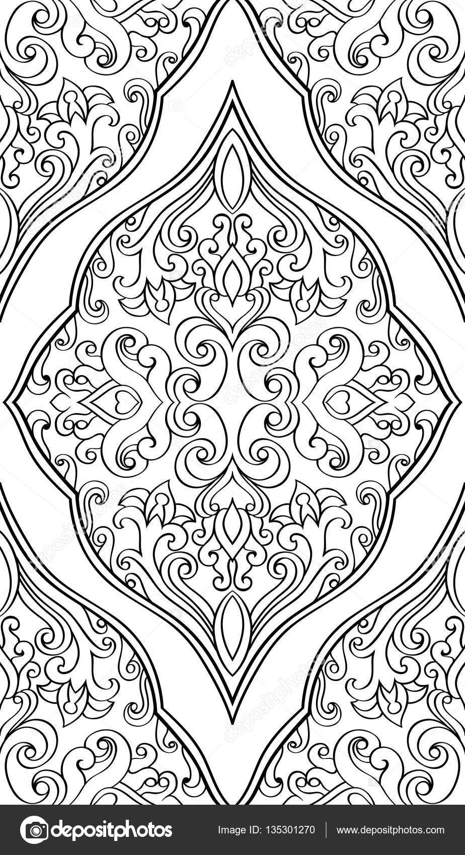orientalische ornamente vorlagen  ausmalbilder