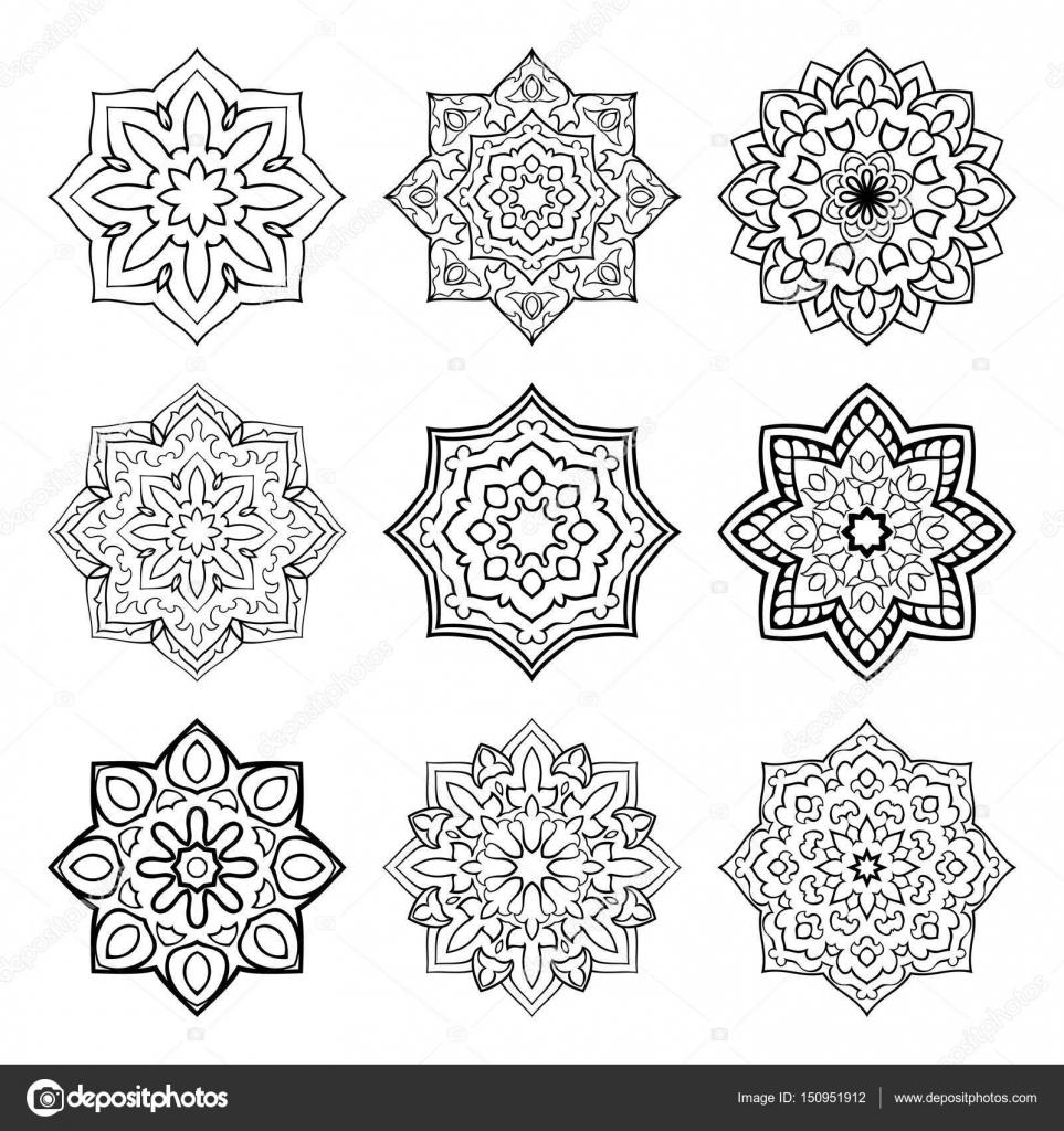 ensemble des mandalas simples image vectorielle matorinni 150951912. Black Bedroom Furniture Sets. Home Design Ideas