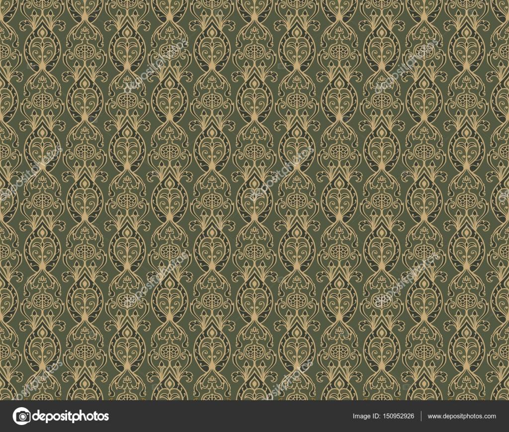 Vintage Grün Tapete — Stockvektor © matorinni #150952926
