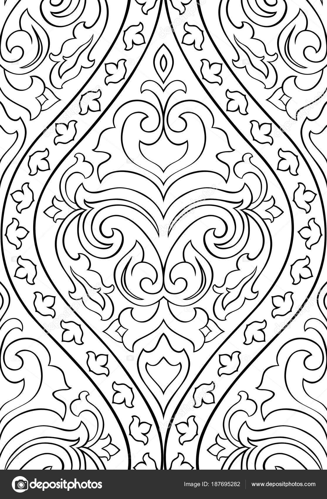 Muster Mit Arabesken Für Wallpaper Stockvektor Matorinni 187695282