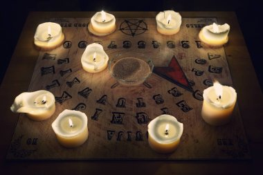Ouija - spiritual board for communicating with human ghosts
