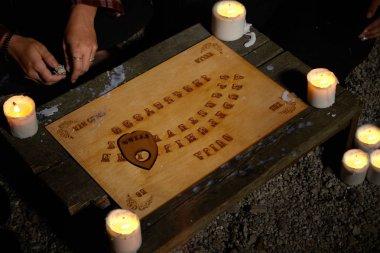 Spiritual board ouija ready for summoning of ghosts