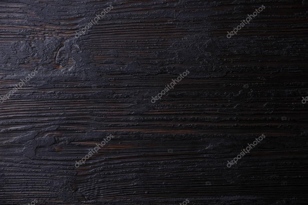 Black Burned wooden table