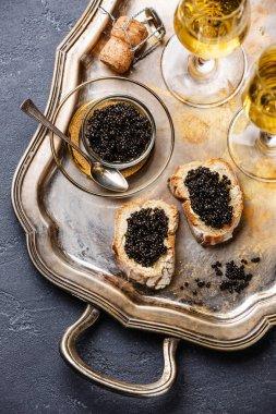 Sturgeon black caviar