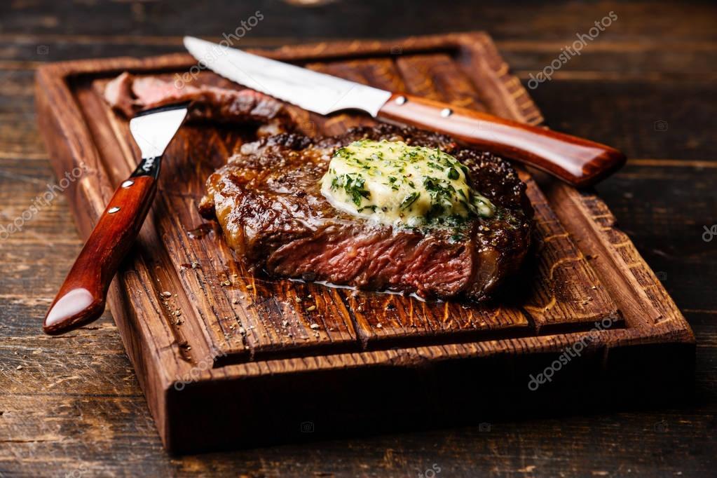Grilled Medium rare steak