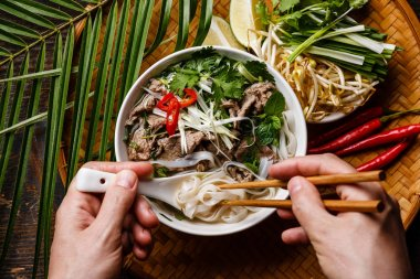 Pho Bo Soup with beef