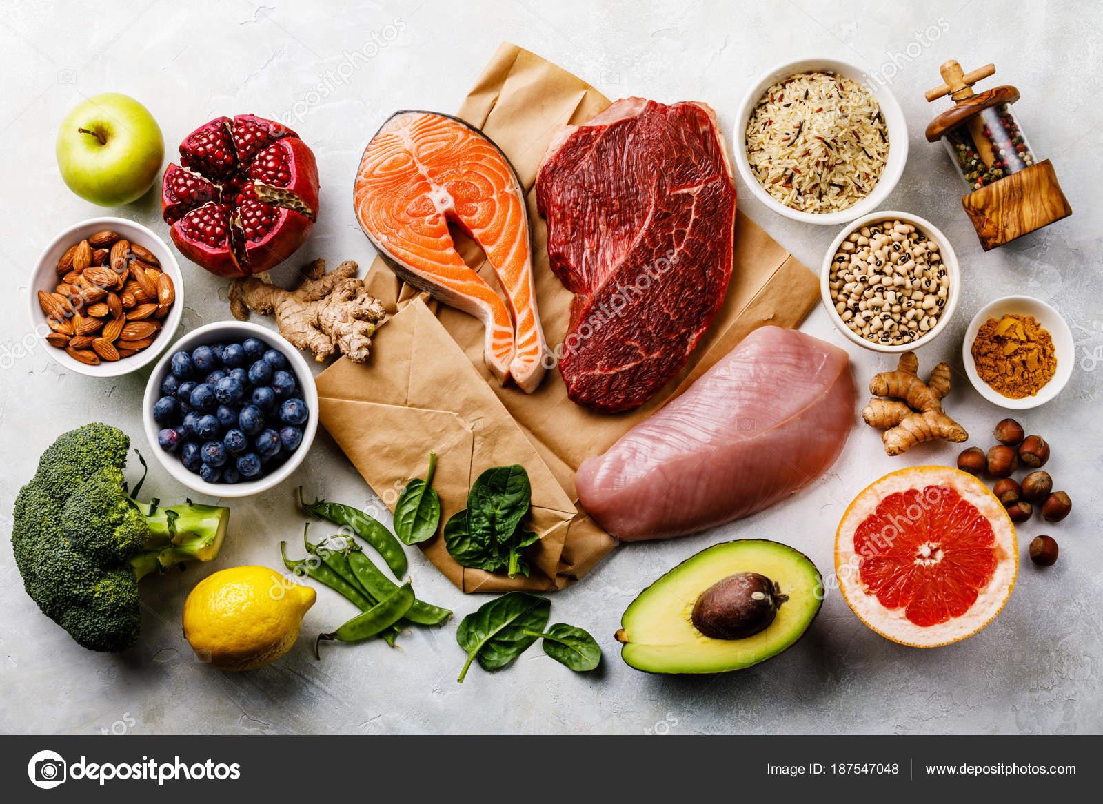 Alimentos de una dieta balanceada