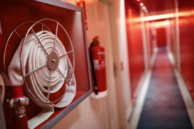 Fire extinguisher and hose reel